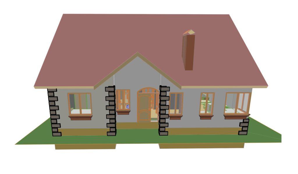 эскизные намерения дом 125 м2